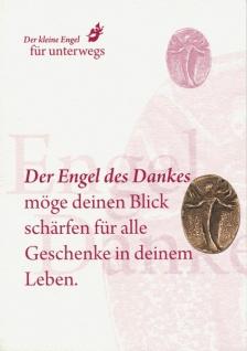 Engel des Dankes Bronzeplakette mit Kärtchen Schutzengel Geschenke - Vorschau