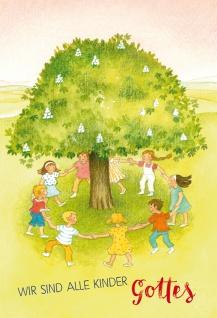 Glückwunschkarte zur Kommunion Wir sind alle Kinder Gottes mit Kuvert 6 Stück