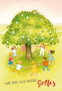 Glückwunschkarte zur Kommunion Wir sind alle Kinder Gottes mit Kuvert 6 Stk