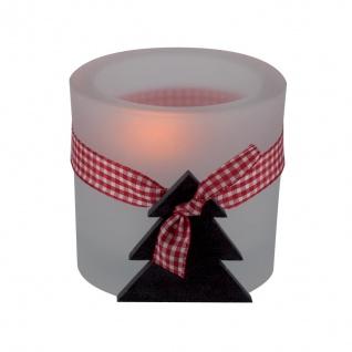 Glaswindlicht Tannenbaum Teelicht Kerzenhalter Kerzenständer Glas für Windlicht