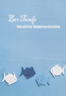 Taufkarte Zur Taufe herzliche Segenswünsche (6 Stck) Set Glückwunschkarte Kuvert