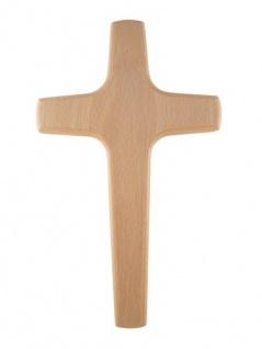 Wandkreuz Holzkreuz Buche Kruzifix Kreuz 29 cm Christoph Fischbach schlicht