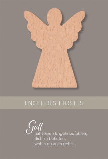 Trauerkarte Trost Engel 5 Stück Kuvert Bibelwort Meditation Psalm 91 Beistand