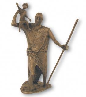 Bronzefigur Christophorus 50 cm Bronze Skulptur