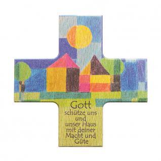 Haussegen Gott schütze.. Buchenholz 12 cm