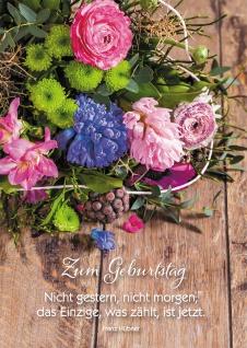 Postkarte Geburtstag Blumenstrauß 10 St Adressfeld Augenblick Gegenwart