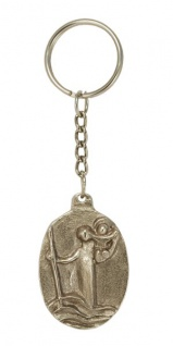Schlüsselanhänger Christophorus 4 cm Silberbronze Christopherus Anhänger