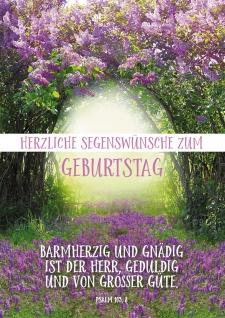 Postkarte Geburtstag Flieder 10 St Adressfeld Bibelwort Gnade Barmherzigkeit