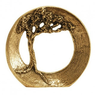Standrelief Vertraue deiner Kraft Ø 9 cm Bronze