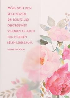 Geburtstagskarte Möge Gott dich reich segnen... (6 Stück) Grußkarte mit Kuvert