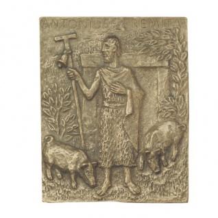 Namenstag Antonius 13 x 10 cm Namenspatron Bronzerelief Wandbild Schutzpatron