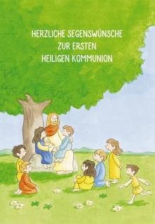 Glückwunschkarte Herzliche Segenswünsche zur ersten heiligen Kommunion 6 Stück