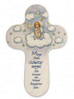 Kreuz für Kinder Dein Schutzengel 15 cm Kruzifix Holz-Kreuz Wandkreuz