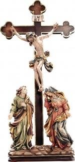 Kreuzigungsgruppe Holzfiguren geschnitzt Südtirol