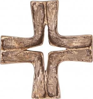 Wandkreuz 14, 5 cm Bronze Kreuz Schmuckkreuz Kruzifix Christlich