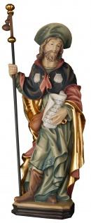 Heiliger Jakobus der Ältere Holzfigur geschnitzt Südtirol Schutzpatron