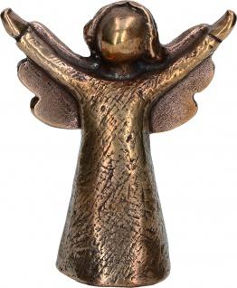Bronzefigur Engel der Fröhlichkeit Schutzengel Figur 8, 5 cm