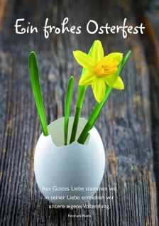 Osterkarte Ein frohes Osterfest (6 St) Grußkarte Glückwunschkarte Kuvert