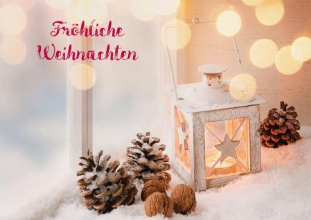 Weihnachtskarte Fröhliche Weihnachten (6 Stück) Grußkarte mit Kuvert