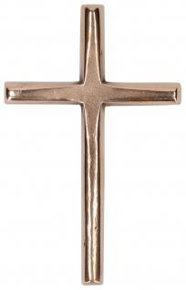 Wandkreuz schlicht elegant Bronze 10, 5 cm Kreuz Kunsthandwerk