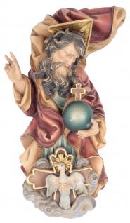 Heilige Dreifaltigkeit Holzfigur geschnitzt Südtirol