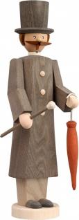 Räuchermännchen Gentleman 32 cm Seiffen Erzgebirge Handarbeit Holzfigur