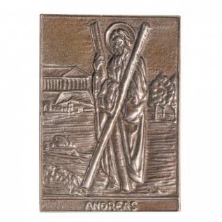 Namenstag Andreas Andrea 8 x 6 cm Bronzeplakette