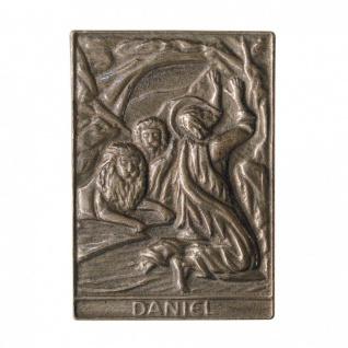 Namenstag Daniel 8 x 6 cm Bronzeplakette Bronzerelief Wandbild Schutzpatron