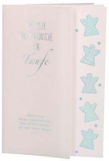 Glückwunschkarte Taufe Bibelwort Psalm 91 Segenwunsch Sakrament (6 Stück) Kuvert