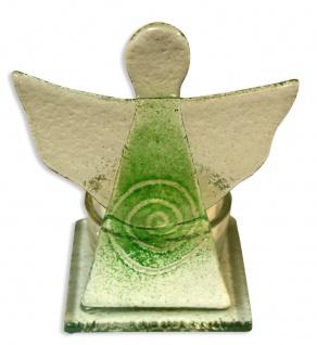 Teelichthalter Schutzengel Spirale Grün 10 cm Kerzenhalter Kerzenständer