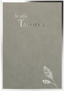 Trauerkarte Hebräer 6 St Kuvert Blätter Glaube Hoffnung Folienprägung Zuversicht