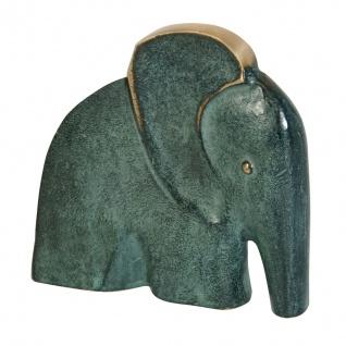 Bronzeskulptur Elefant 11 cm Bronze Tierfigur aus Bronze