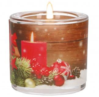 Glaswindlicht Weihnachten Teelicht Kerzenhalter Geschenkbox Glas für Windlicht