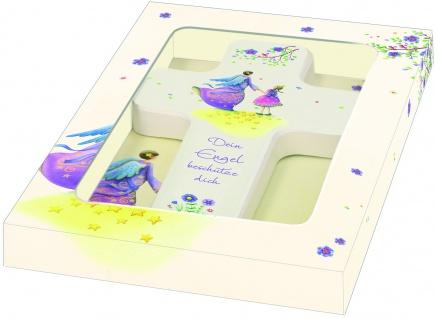 Kreuz für Kinder Dein Engel beschütze dich 18 cm Kruzifix Holz-Kreuz Geschenkbox