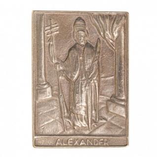 Namenstag Alexander 8 x 6 cm Bronzeplakette Bronzerelief Wandbild Schutzpatron