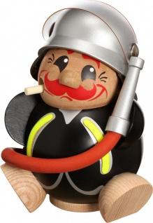 Räuchermännchen Feuerwehrmann 12 cm Seiffen Erzgebirge Handarbeit Holzfigur