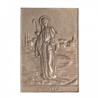 Namenstag Birgitta 8 x 6 cm Bronzeplakette Bronzerelief Wandbild Schutzpatron