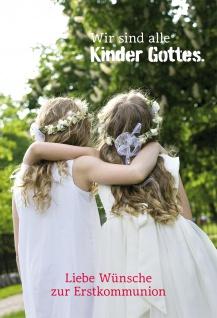 Glückwunschkarte Liebe Wünsche zur Erstkommunion Grußkarten mit Kuvert 6 Stück
