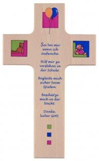 Kinderkreuz Tag und Nacht Buche 15 cm 20 cm Wandkreuz Holz Kreuz Abendgebet