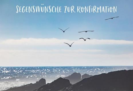 Glückwunschkarte Konfirmation 6 St Kuvert Bibelwort Psalm Abendmahl Segen-Wunsch