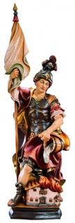 Heiligenfigur Heiliger Florian Holz Figur handbemalt Südtiroler Schnitzkunst