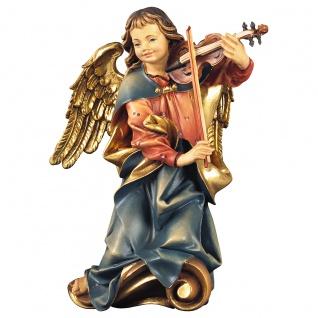 Chorengel mit Geige Holzfigur geschnitzt Engelfigur Südtirol