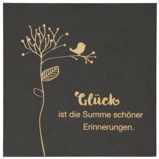 Wand-Relief Glück Gold-Druck Schiefer Heidi Rose Dekoration Geschenkverpackung