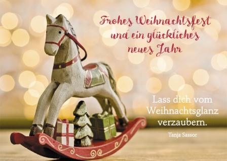 Postkarte Frohes Weihnachtsfest ein glückliches neues Jahr Adressfeld (10 Stück)