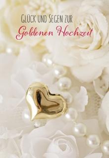 Glückwunschkarte Goldene Hochzeit Blaise Pascal 6 St Kuvert Erneuerung Segen