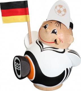 Räuchermännchen Fußballfan 12 cm Seiffen Erzgebirge Handarbeit Holzfigur