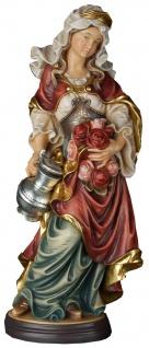 Heilige Elisabeth mit Rosen Heiligenfigur Holz geschnitzt Schutzpatronin