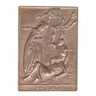 Namenstag Hedwig 8 x 6 cm Bronzeplakette Bronzerelief Wandbild Schutzpatron