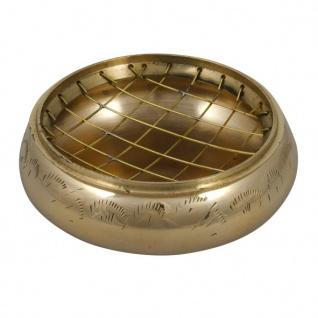 Rauchgefäß aus Messing mit Gitter Ø 8 cm 10 cm Weihrauch Räuchergefäß