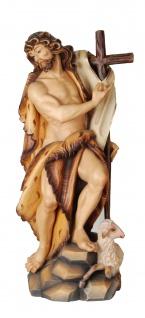 Heiliger Johannes der Täufer Holzfigur geschnitzt Südtirol Schutzpatron